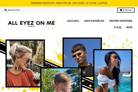 Boutique de lunettes en ligne
